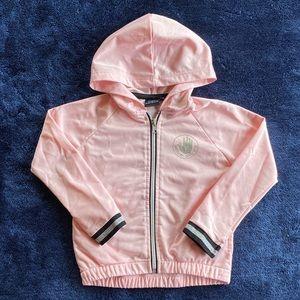 Body Glove baby pink satin bomber jacket